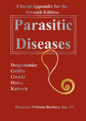 "Book cover ""Clinical Appendix for Parasitic Diseases 7th Edition"""