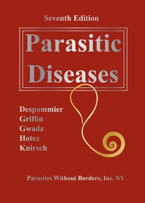 "Book cover ""Clinical Appendix for the Seventh Edition of Parasitic Diseases"""