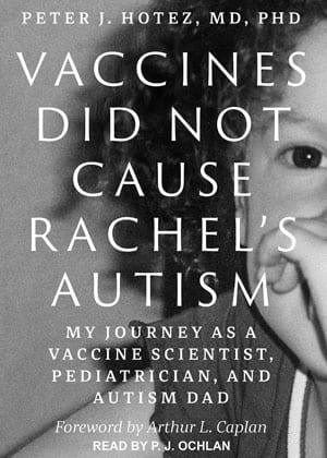 "Book cover ""Vaccines Did Not Cause Rachel's Autism"""